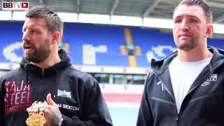SAM SEXTON-HUGHIE FURY HEAD TO HEAD PITCH SIDE - BOLTON WANDERERS