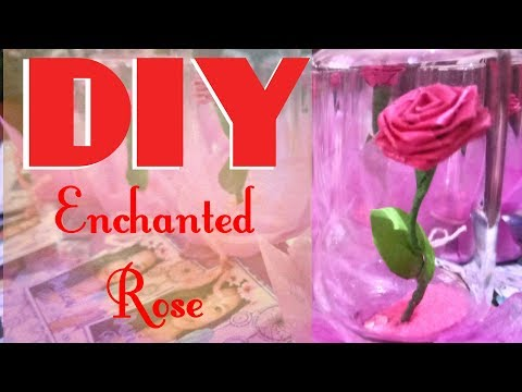 DIY Beauty and the Beast Inspired ENCHANTED ROSE Souvenir/Giveaway