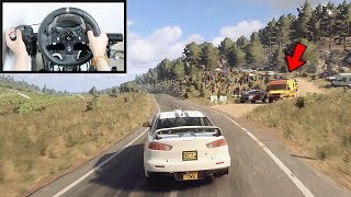 Dirt Rally 2.0 Driving Mitsubishi Lancer Evo X (Steering Wheel + Shifter) Gameplay