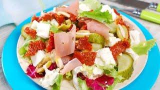Зимний салат с вялеными помидорами