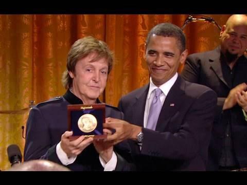 President Obama Honors Paul McCartney