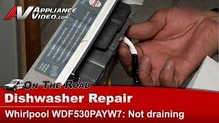 whirlpool maytag kitchenaid dishwasher not draining error codes control board wdf530payw7