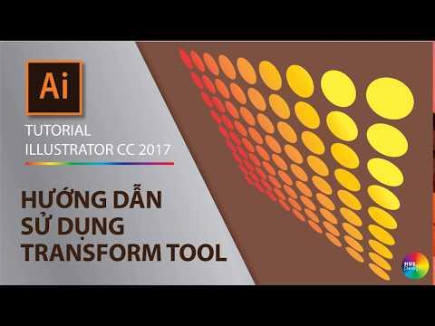 Illustrator Part 1.6 - Cách sử dụng công cụ Free Transform (How to use Free transform tool)