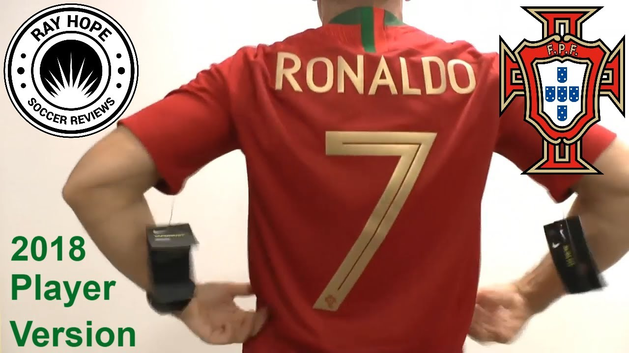 newest d9d23 51620 Portugal Ronaldo CR7 2018 World Cup home jersey VaporKnit player version  unboxing review