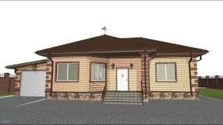 Проект универсального одноэтажного дома с гаражом  B-008-ТП(Этот проект у нас на сайте: http://domic.pro/project/проект-универсального-одноэтажного-дома-с-гаражом Проектирование..., 2016-10-20T12:33:25.000Z)