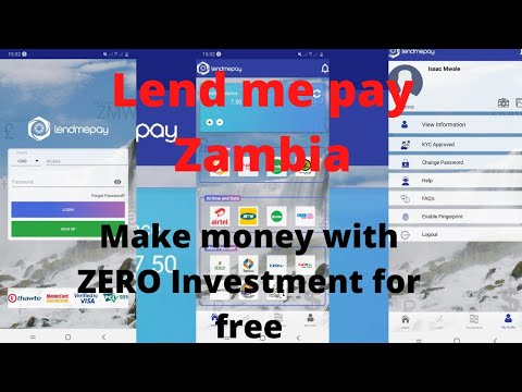 Lend Me Pay Zambia make money online with ZERO Investment in Zambia 2021