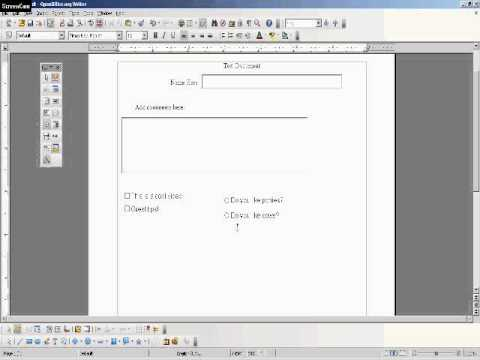 Create a Fillable PDF Document - #2 Tutorial - Check Boxes and Option Buttons