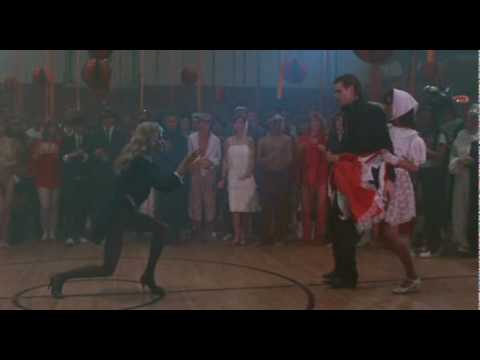 Jim Carrey dancing with Lauren Hutton and Karen Kopins  in
