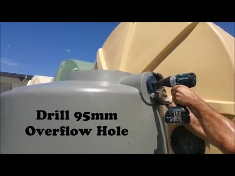How To Install An Overflow Into Your Q Tank Rain Water