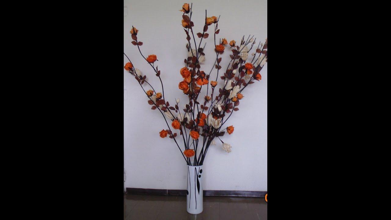 Arreglos florales manualidades f ciles youtube - Arreglos florales artificiales centros de mesa ...