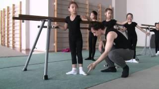 Урок класса в группе художественной гимнастики