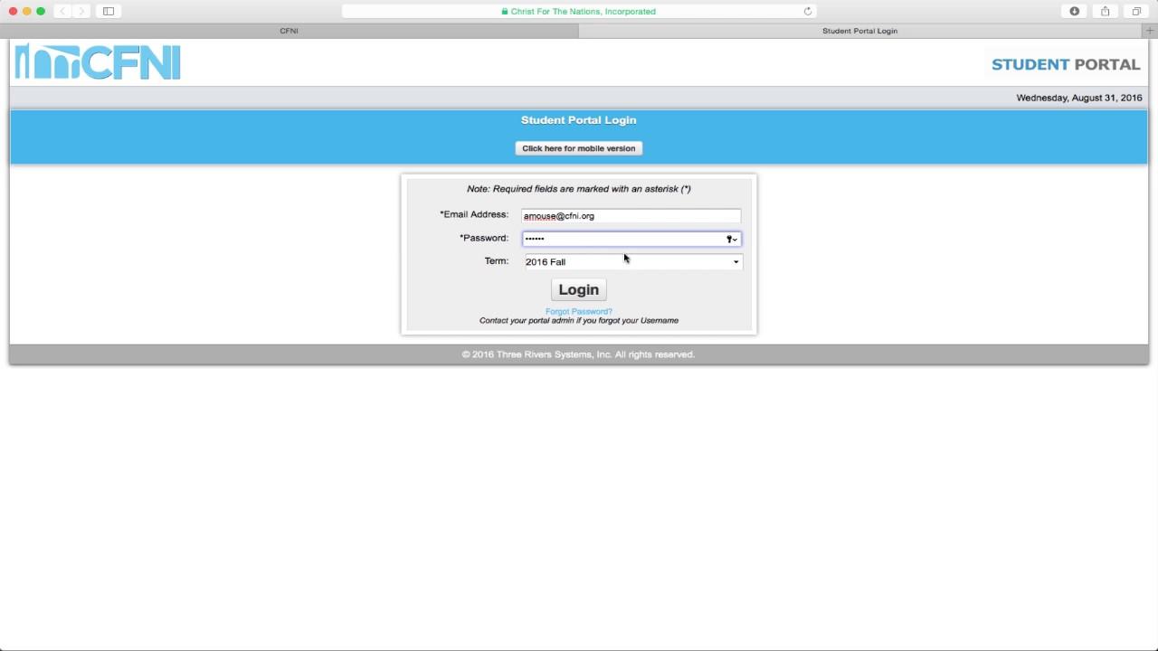 cfni student portal