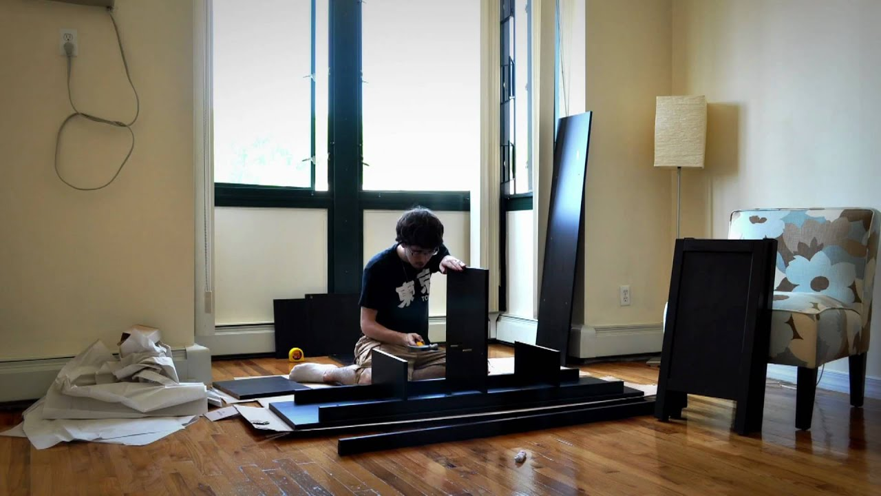 lack sofa table as desk versace jaipur price ikea hemnes console assembly time lapse youtube