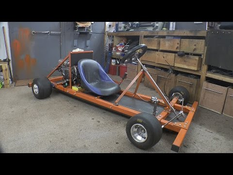 Thumbnail: Making a Motorised Go Cart with NO WELDER and simple tools #1 - Chassis/Engine