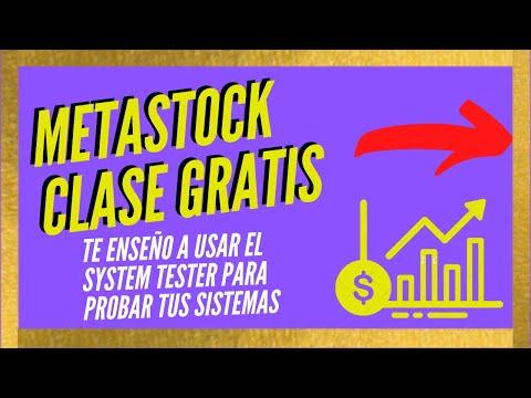 Tester de Metastock - VideoTutorial Parte 2