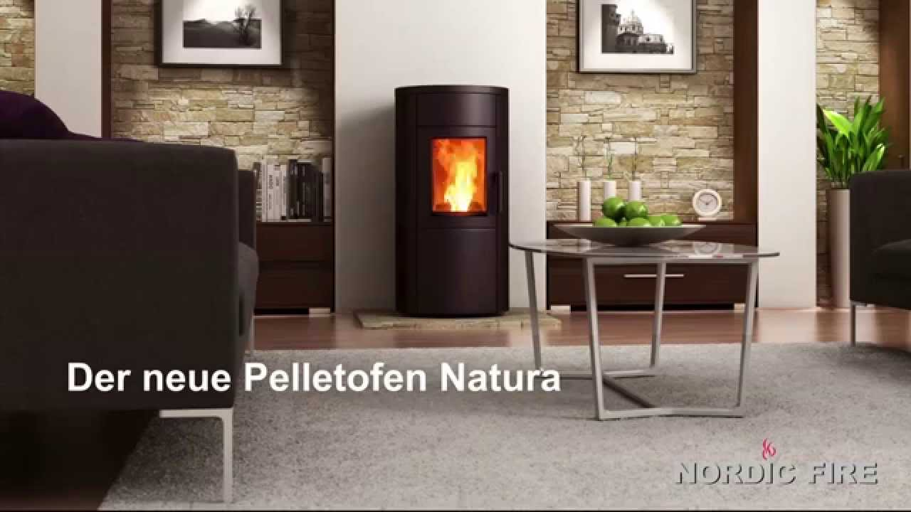 pellet fen der neue pelletofen natura youtube. Black Bedroom Furniture Sets. Home Design Ideas