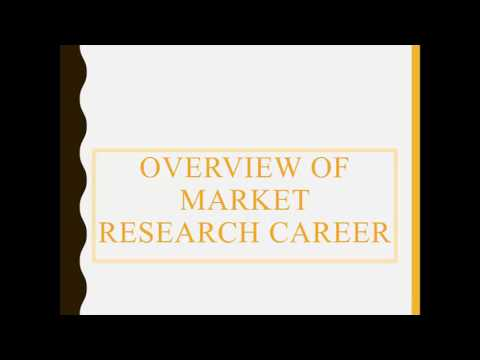 Market Research Industry and Careers