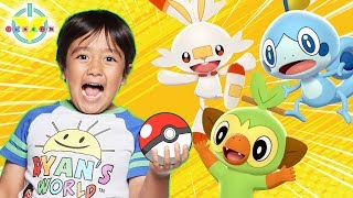 RYAN PLAYS *NEW* POKEMON SWORD AND SHIELD FOR THE FIRST TIME! Let's Play with Ryan's Daddy