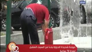 شاهد.. الأرصاد: موجة شديدة الحرارة تضرب مصر بداية من السبت