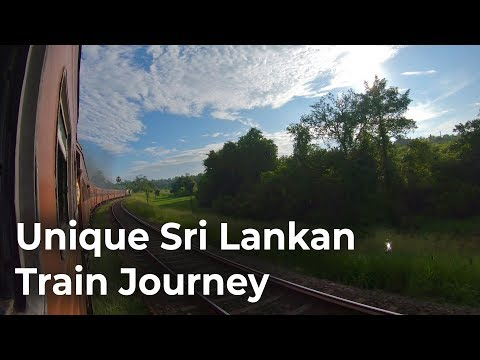 One Hour Long Train Journey in Sri Lanka Railways with Sounds