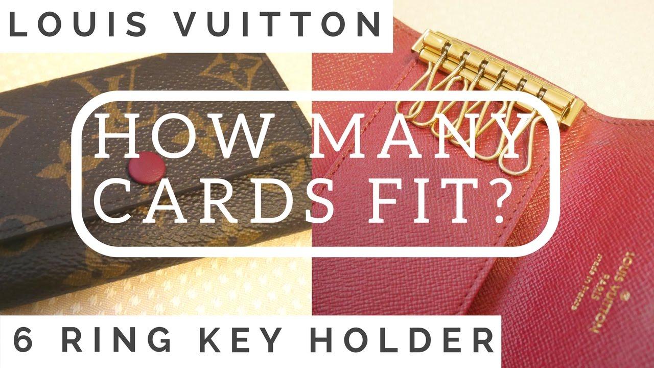 f4af6ea5d9b5 ♡How Many Cards Fit in LV 6 Ring Key Holder♡