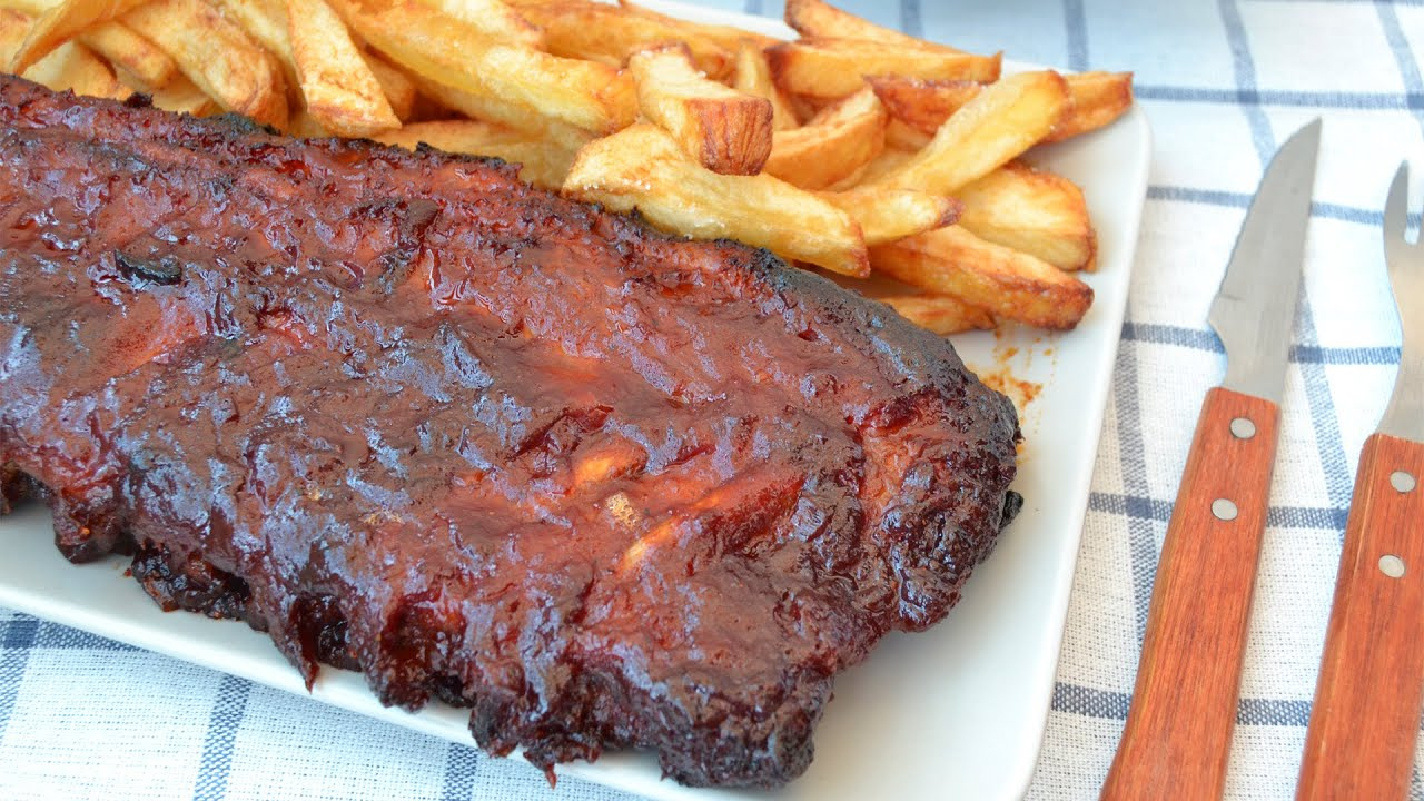 Costillas a la barbacoa american style bbq ribs youtube for Barbacoa bbq
