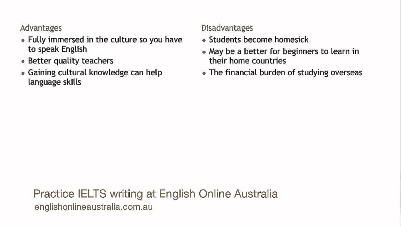 IELTS Writing Lesson 9 - Task 2 Advantages and Disadvantages Essay ...