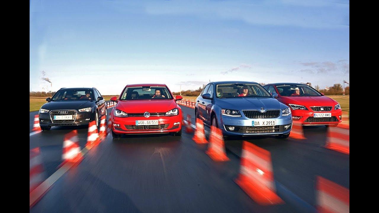 Audi A3 Sportback >> Audi A3, VW Golf, Skoda Octavia, Seat Leon im Vergleichstest - YouTube