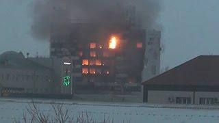 Raw: Building Burns After Chechnya Gun Battle