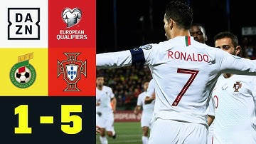 Viererpack von Cristiano Ronaldo: Litauen - Portugal 1:5 | EM-Quali | DAZN Highlights