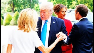 GROSS: Trump Tells Macron's Wife She's 'In Such Good Shape,' She Grabs Melania's Arm For Safety