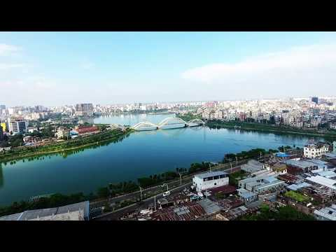 Aerial View Of Hatirjheel and Independent Television Tower