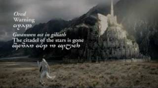 Minas Tirith (Sindarin lyrics in Tengwar) - Lord of the Rings: Return of The King