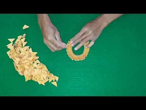 Cara Membuat Origami Vas Bunga Step by step