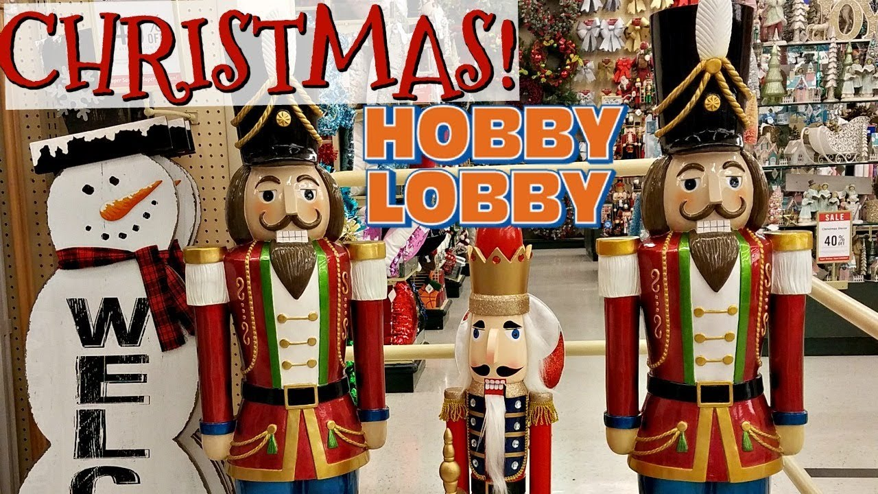 Christmas Decor Shopping Hobby Lobby 2017 Shop With Me Youtube