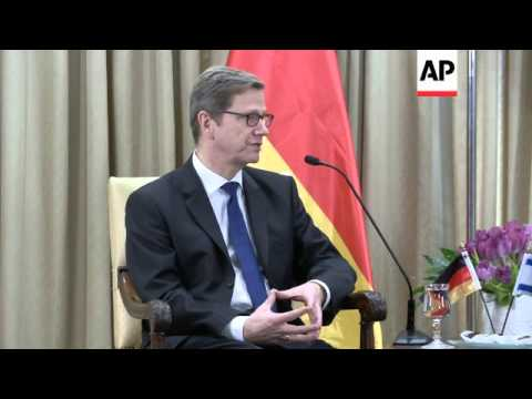 Westerwelle discusses MidEast violence with Peres