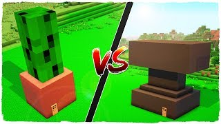 👉 Casa de MACETA vs casa de YUNQUE - MINECRAFT