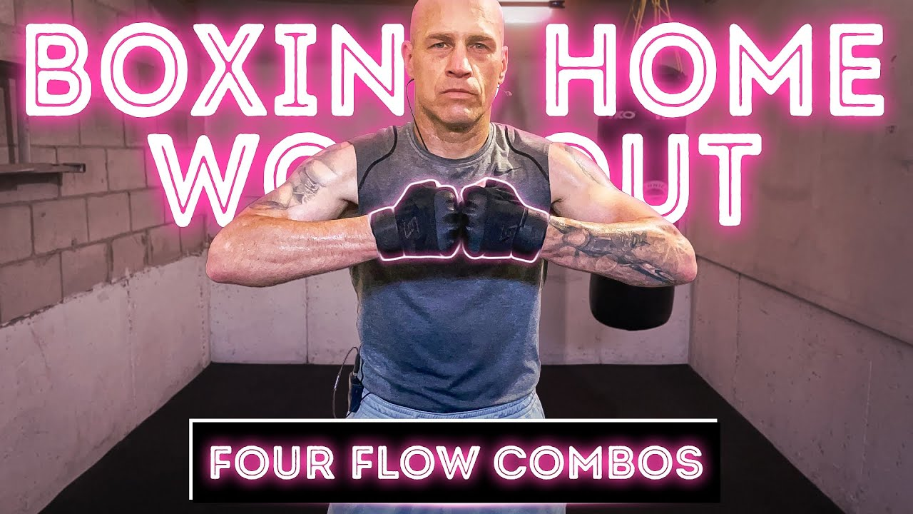 Four Flow Boxing Combos | 8 Rounds | Boxing Home Workout