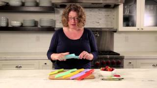 Cuisinart Ceramic Coated Color Knife Set With Blade Guards (c55-12pcer1) Demo Video