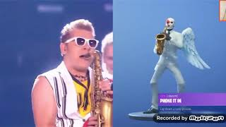 I was redoing the fortnite dances in real life.