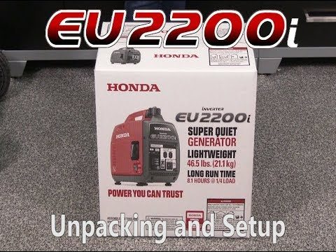 Honda EU2200i Generator Unpacking and Setup