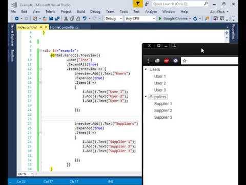 Telerik Kendo UI TreeView For Asp Net mvc