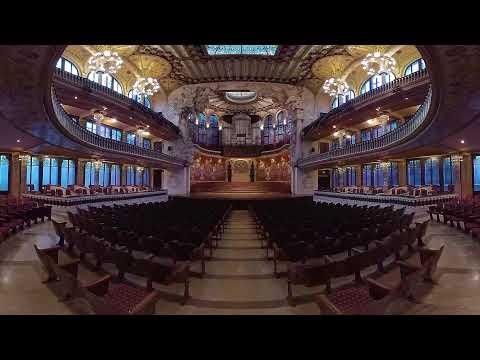 6K Palau de la Música from Turespaña VR 2018