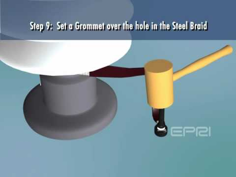 Suspension Insulator Leakage Current Sensor Installation Animation