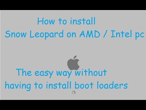 How to install OSX snow leopard 10.6 on amd intel pc using hazard (hackintosh)
