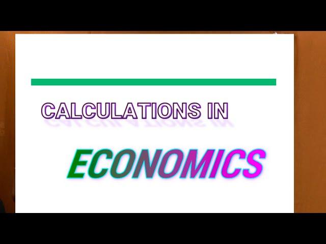 Economics Calculation: Demand and Price