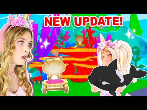 *NEW* OCEAN Update With *FREE* ITEMS In Adopt Me! (Roblox)