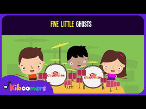 5 Little Ghosts Song for Kids  Halloween Songs for Children  The Kiboomers