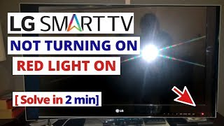How to Fix LG TV Not Turning On Red Light On || Quick Solve in 2 minutes