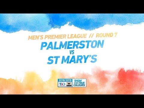Palmerston vs St Mary's: Round 7 - Men's Premier League: 2018/19 TIO NTFL